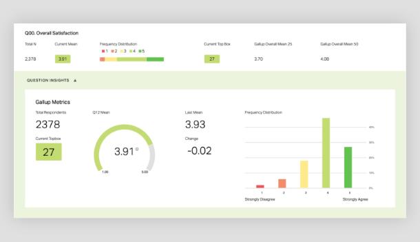 Screenshot of Q12 employee engagement report