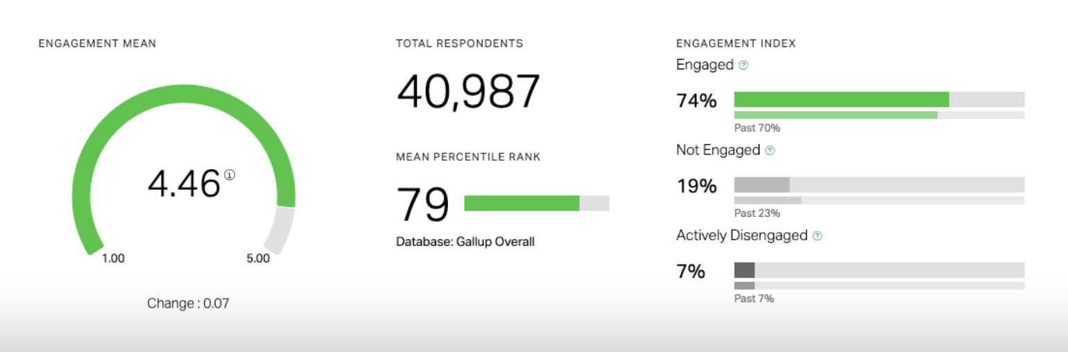 Screenshot of Q12 employee engagement report