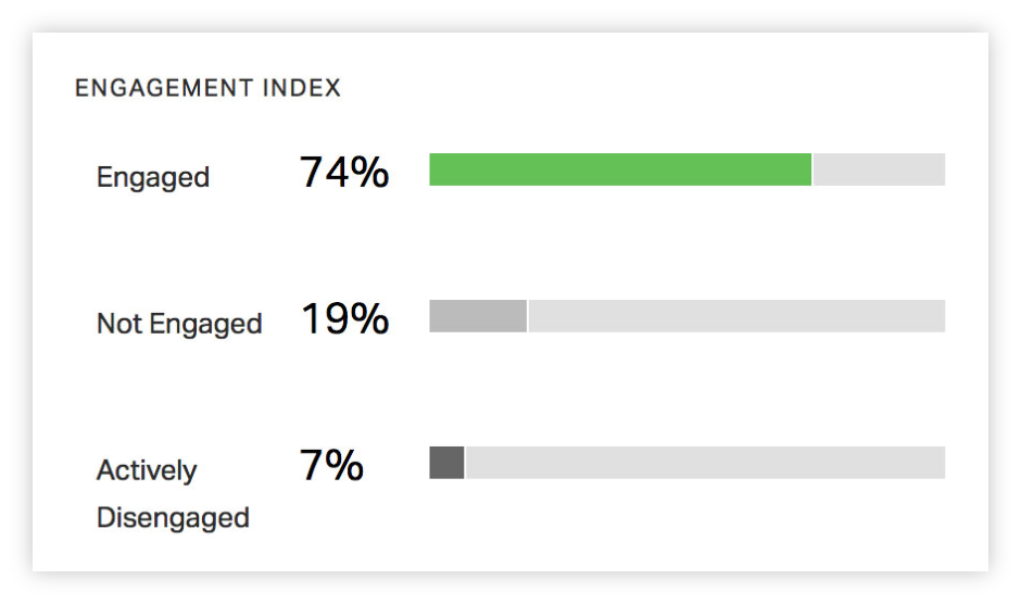 Screenshot of engagement index