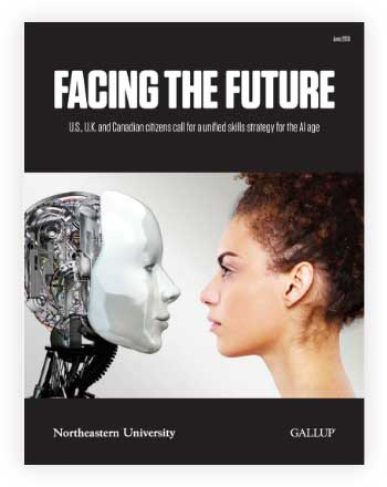 Cover of Facing the Future: U.S., U.K. and Canadian Citizens Call for a Unified Skills Strategy for the AI Age