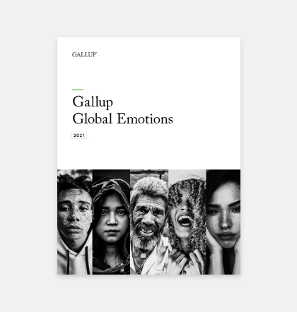 Gallup Global Emotions report cover.