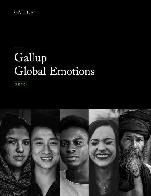Report front cover of Gallup Global emotions.