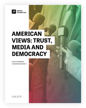 Cover of American Views: Trust, Media and Democracy