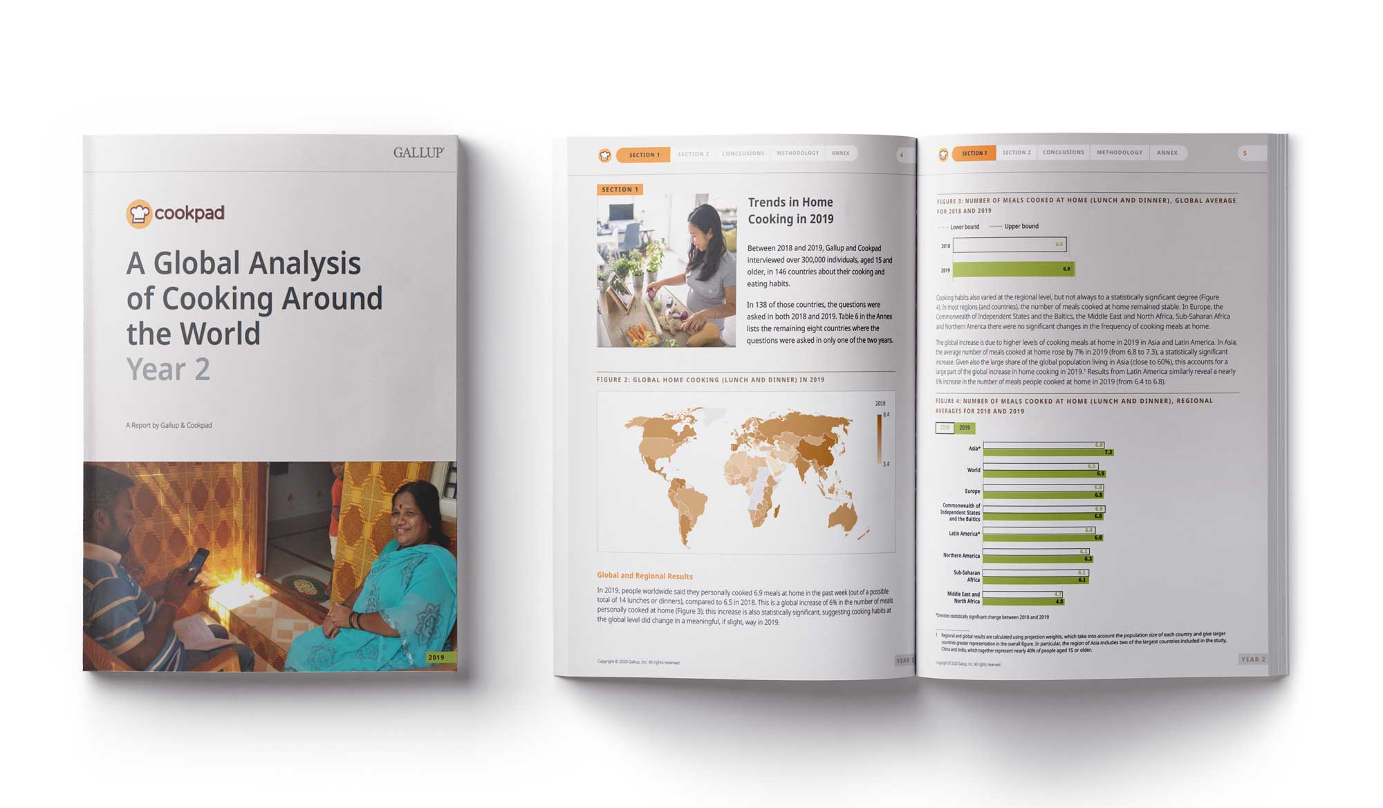Descriptive images of the report A Global Analysis of Cooking Around the World: Year 2