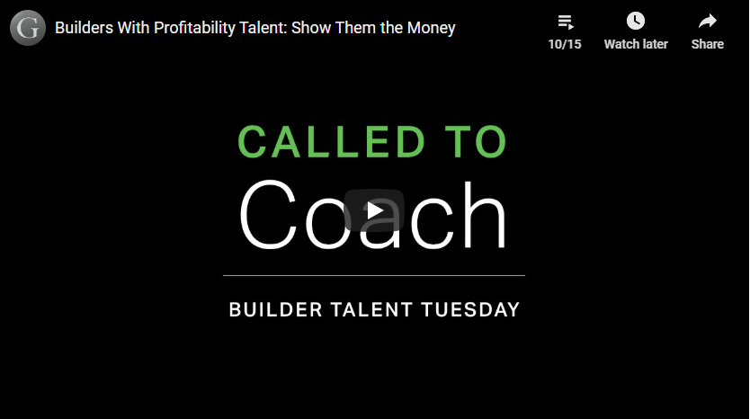 Play video: Builders With Profitability Talent: Show Them the Money