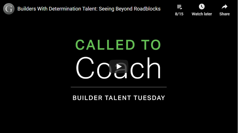 Play video: Builders With Determination Talent: Seeing Beyond Roadblocks