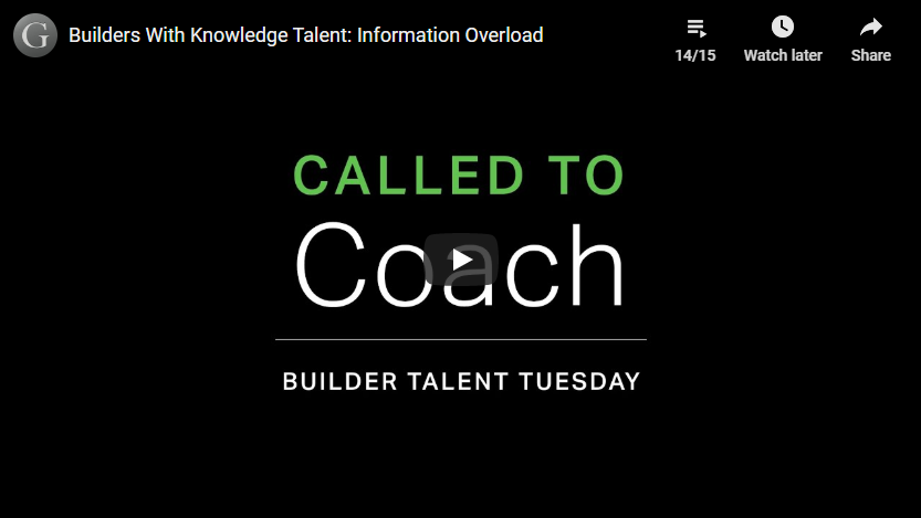 Play video: Builders With Knowledge Talent: Information Overload