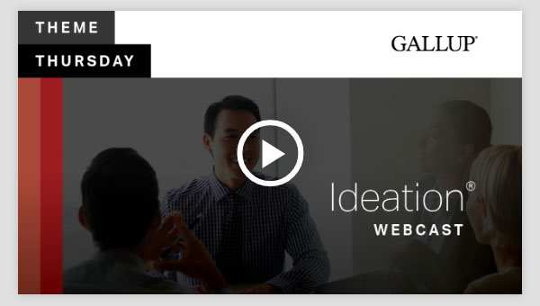 Play video about the Ideation CliftonStrengths Theme