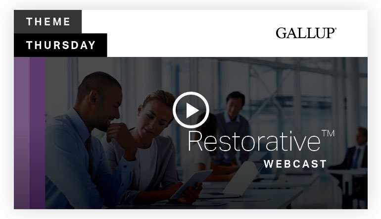 Play video: Restorative Theme | CliftonStrengths
