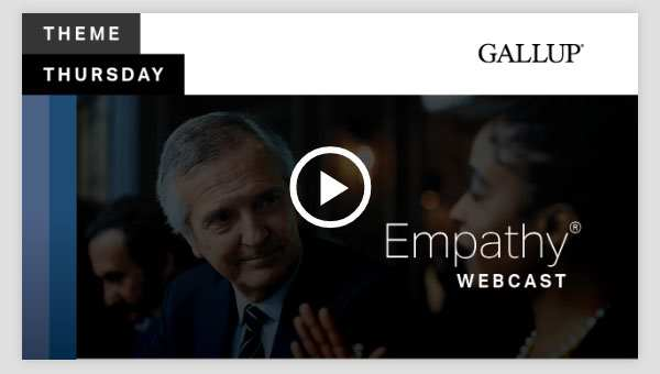 Play video about the Empathy CliftonStrengths Theme
