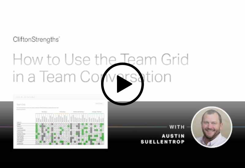 Play Using the CliftonStrengths Team Grid video