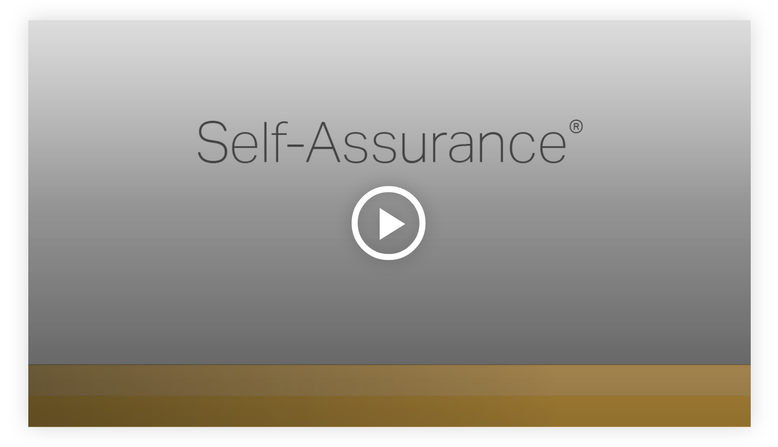 Play video: Self-Assurance - Learn more about your innate talents from Gallup's Clifton StrengthsFinder!