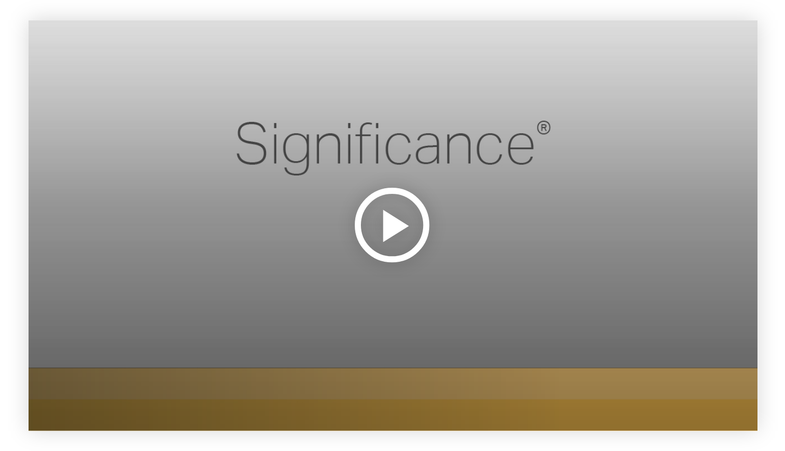 Play video: Significance - Learn more about your innate talents from Gallup's Clifton StrengthsFinder!