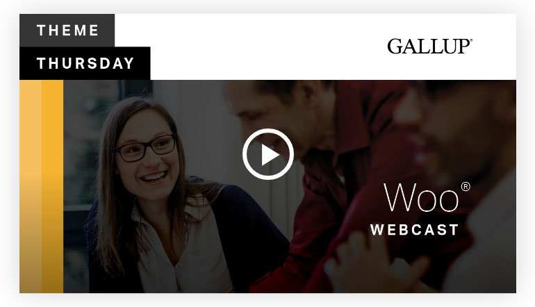 Play video: Woo Theme   CliftonStrengths
