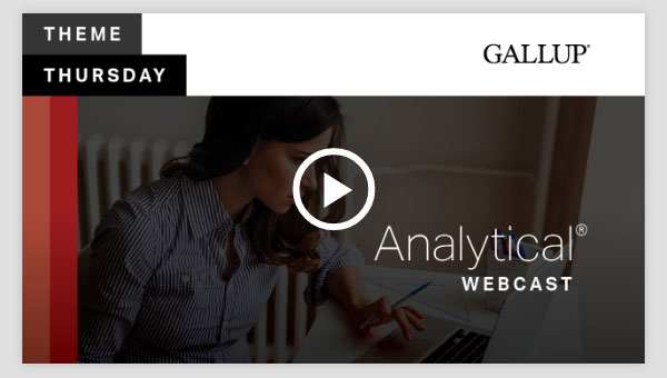 Play video about the Analytical CliftonStrengths Theme