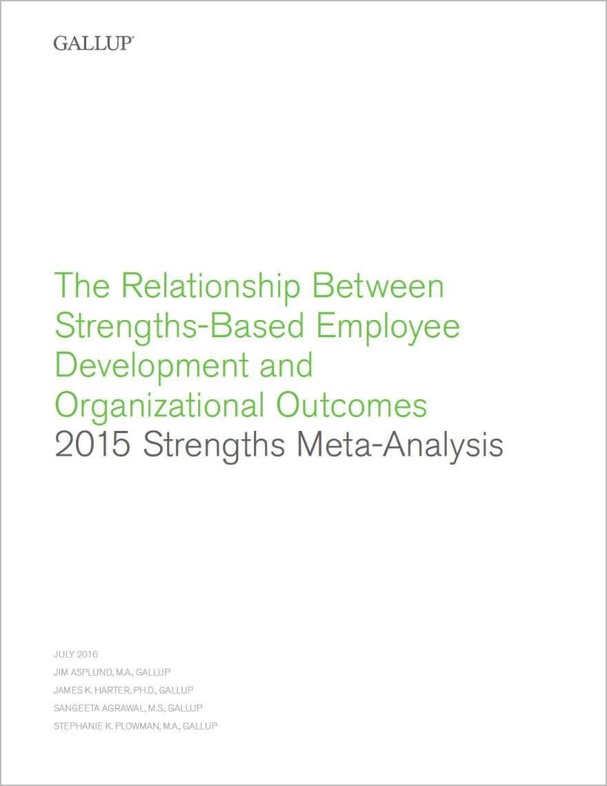 The cover of the 2015 Strengths Meta-Analysis Report