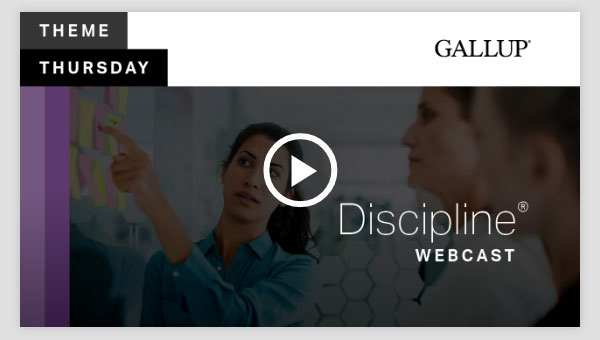 Play video about the Discipline CliftonStrengths Theme
