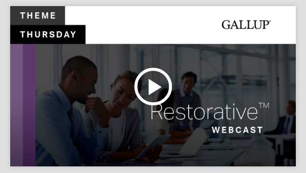 Play video about the Restorative CliftonStrengths Theme
