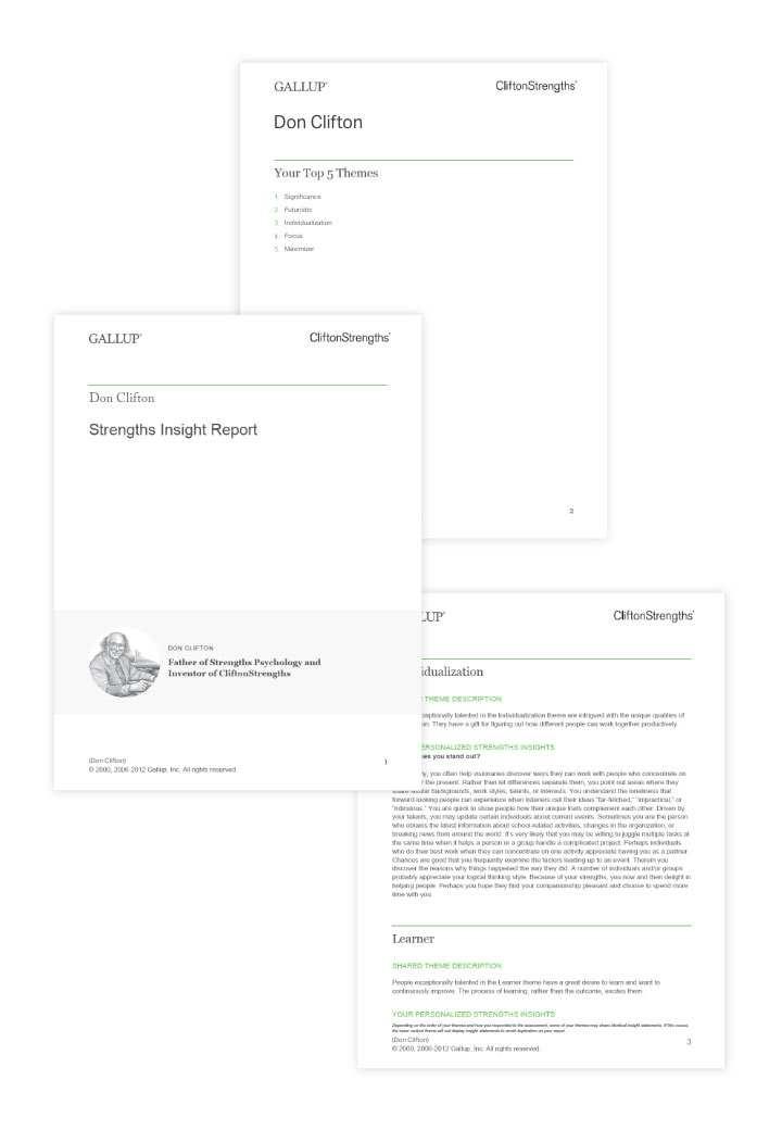 Guia de insights de pontos fortes