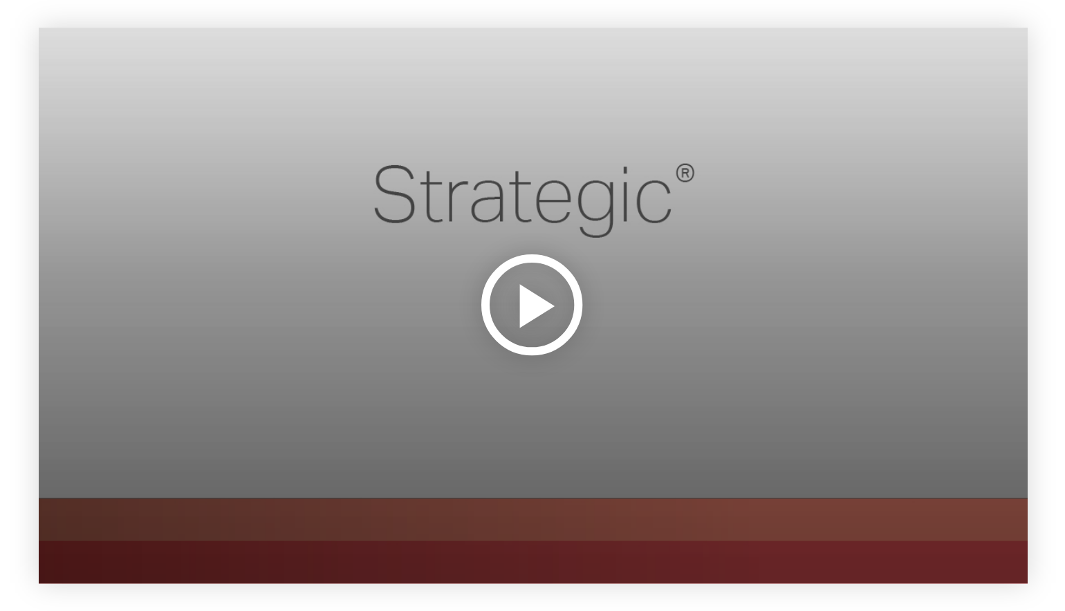 Play video: Strategic - Learn more about your innate talents from Gallup's Clifton StrengthsFinder!