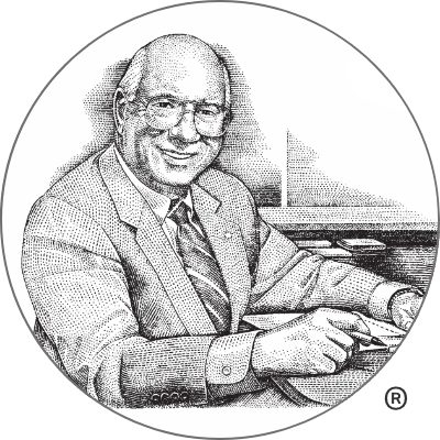 Illustrated portrait of Don Clifton, the Father of Strengths-Based Psychology.