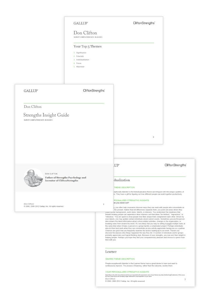 Signature Themes Report