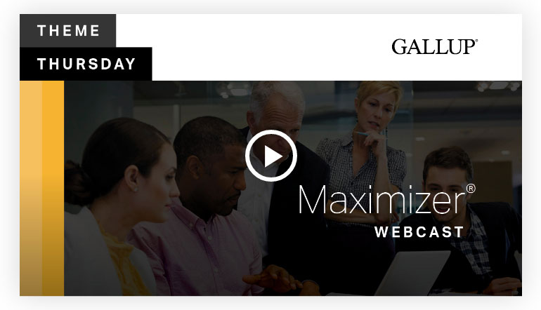 Play video: Maximizer Theme | CliftonStrengths