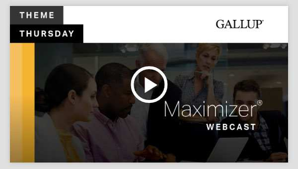 Play video about the Maximizer CliftonStrengths Theme