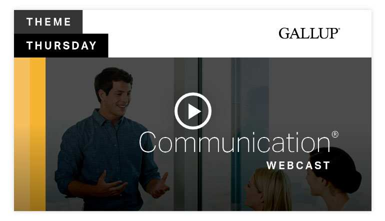 Play video: Theme Thursday Communication Webcast