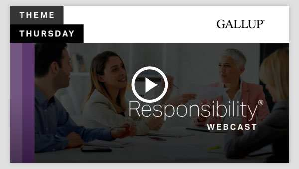 Play video about the Responsibility CliftonStrengths Theme