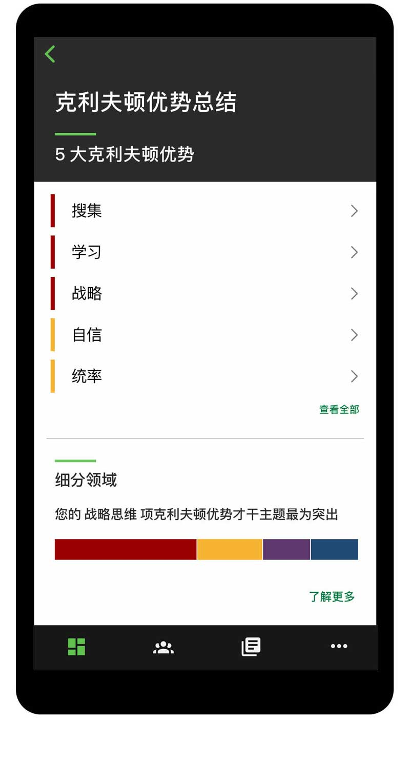 Gallup Access CliftonStrengths摘要