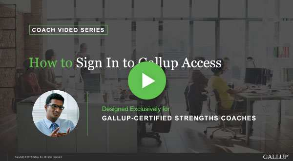 Button to play How to sign in to Gallup Access video