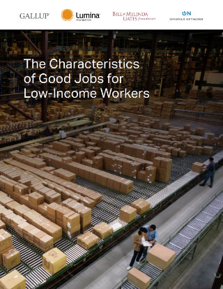 Cover for The Characteristics of Good Jobs for Low-Income Workers