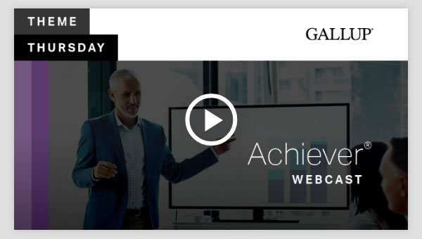 Play video about the Achiever CliftonStrengths Theme