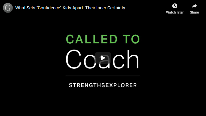 Play video: Confidence - An Inner Certainty and Willingness to Stand Out