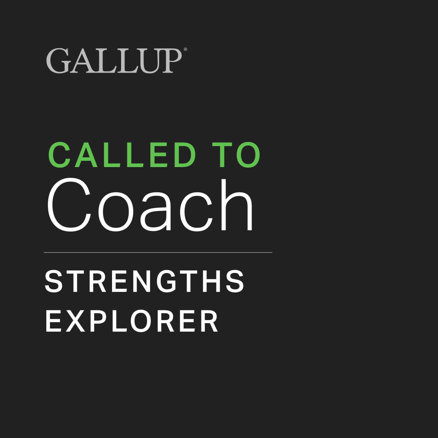 Called to Coach: Strengths Explorer