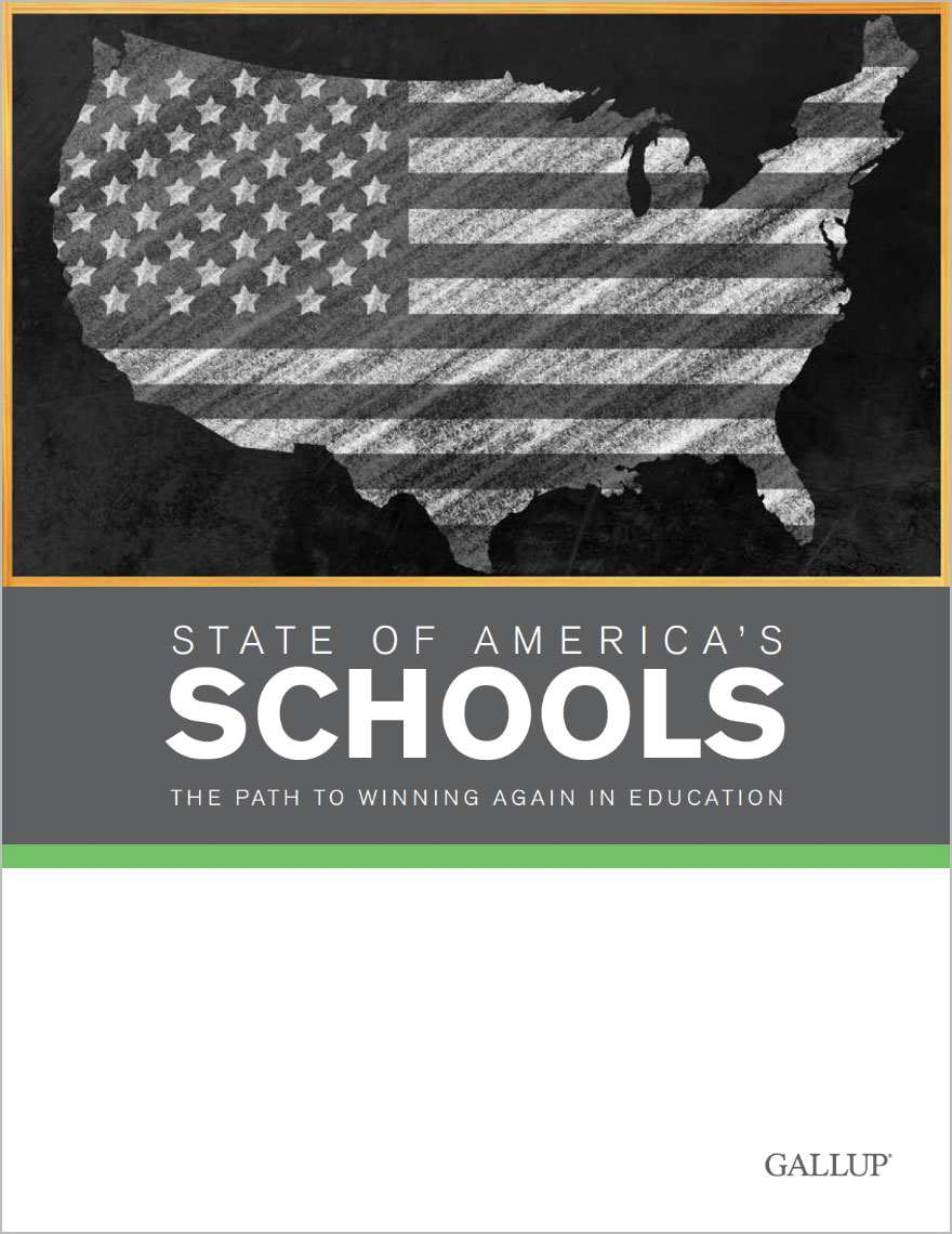 The cover of the State of America's Schools Report