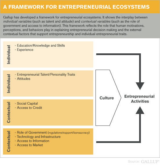 A Framework for Entrepreneurial Ecosystems
