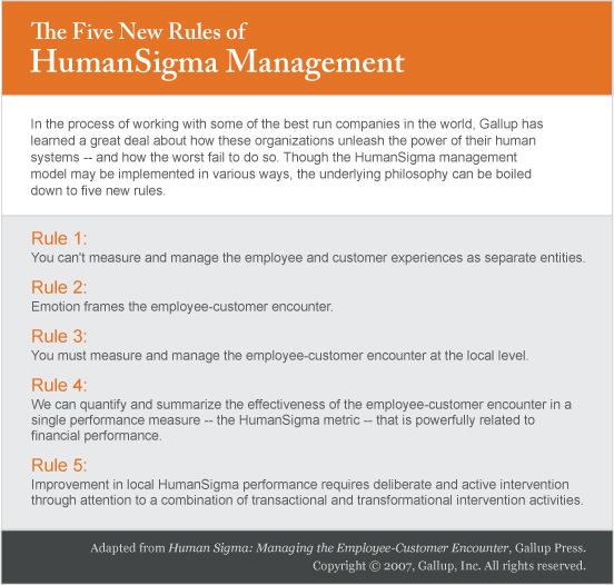 The Five New Rules of HumanSigma Management