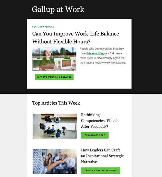 Gallup at Work Newsletter