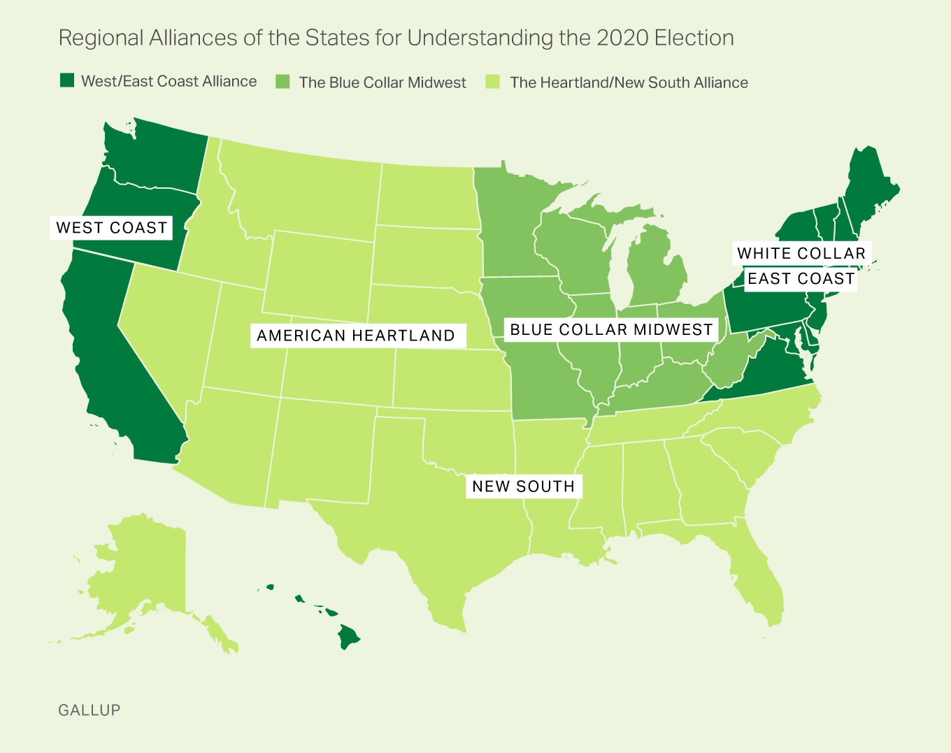 Regional Alliances of the States for Understanding the 2020 Election