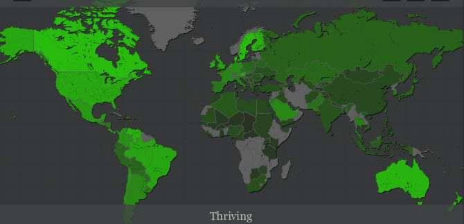 Global Wellbeing: Who's Thriving Worldwide Map