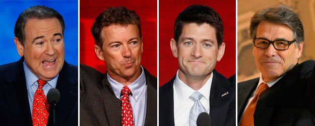 Huckabee, Paul, Ryan, Perry Best Known and Liked in GOP