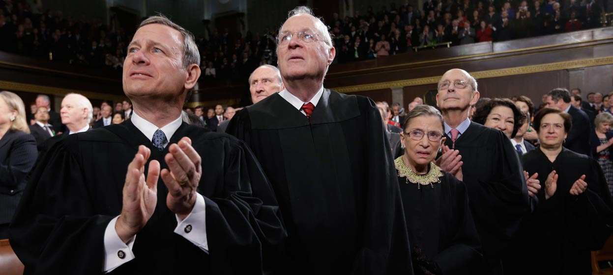Democrats View U.S. Justices Kennedy, Roberts Favorably