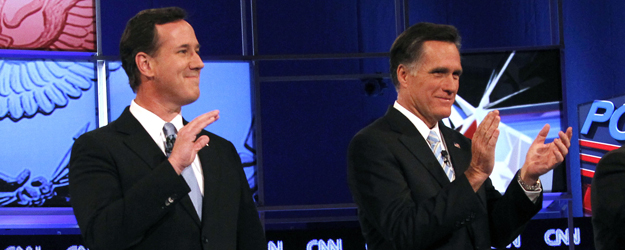 Romney, Santorum Roughly Tied on Positive Intensity Measure