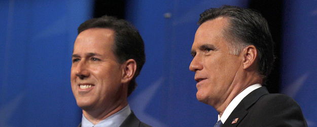 Romney, Santorum Tie for Lead in GOP Positive Intensity
