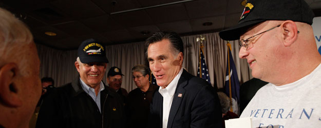 Veterans Give Romney Big Lead Over Obama