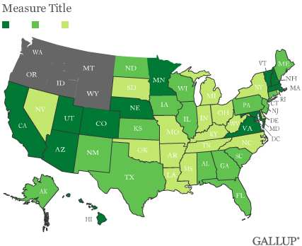 D.C., Hawaii Most Democratic, Utah Most Republican State in '11