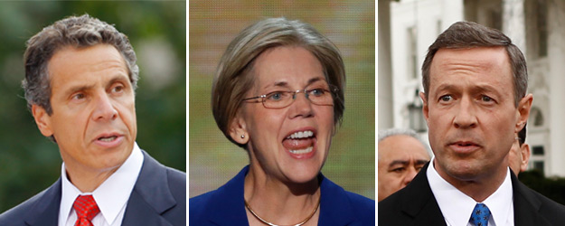Cuomo, Warren, O'Malley Still Unknown to Many Democrats