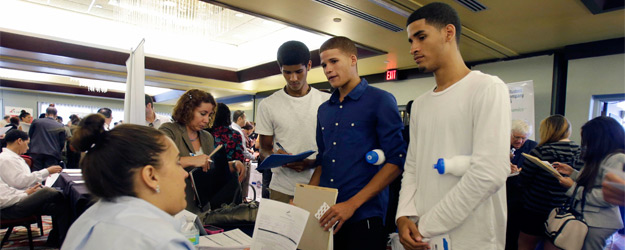 In U.S., All but the Low-Income See Job Market Mending